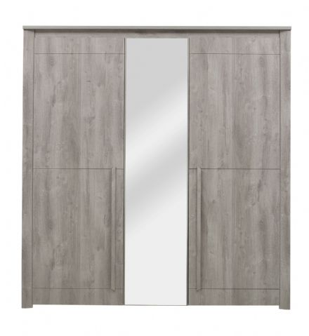 Eden 3 Door Wardrobe Light Grey Oak